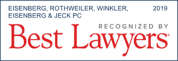 Eisenberg, Rothweiler, Winkler, Eisenberg & Jeck, P.C. recognized by best lawyers 2019