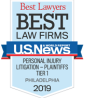 best lawyers best law firms personal injury litigations - plaintiffs tier 1 philadelphia 2019