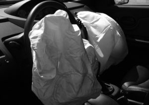 deployed airbags after a hit and run accident