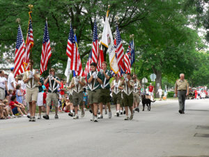 bigstock Boy Scouts march in Fourth of 18499985