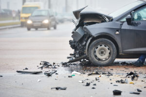 Photo of a car crash in the street