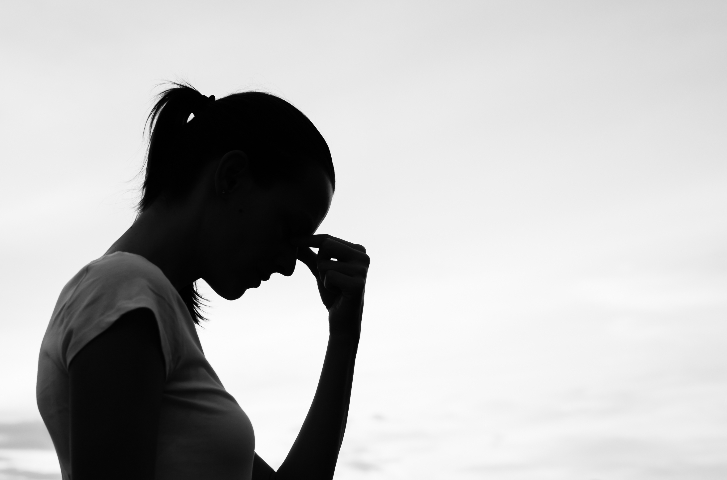 sad woman after wrongful death