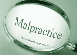 malpractice professional negligence under magnifying glass
